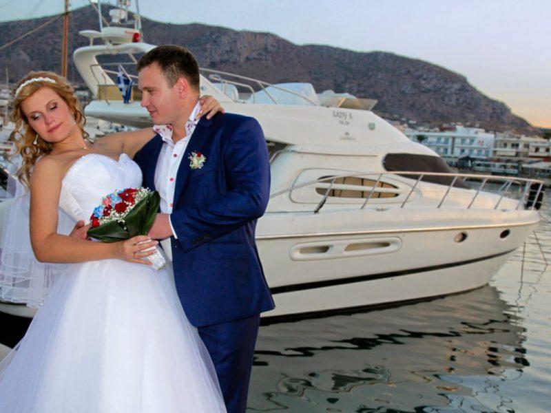 Свадебная церемония на яхте, остров Крит (фото 1)